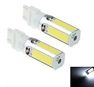 2pcs 7443/7440 / t20 24w 1800lm 6000k 4xcob weiße LED für Auto-Scheinwerfer / Nebellicht-Lampe (DC10 ~ 30V)