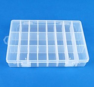 24 Transparent plastics Jewelry  Display Storage Pack Box(1PC)