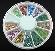 12 Kinds Fimo Slice Leaf Series Nail Art Decoration(Random Pattern)