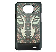 The wolf Leather Vein Pattern Hard Case for Samsung Galaxy S2 I9100