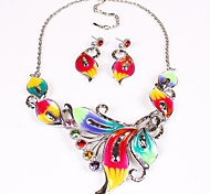 Women's Fashion Europe Colorful Jewelry Set(Including Necklaces Earrings)