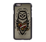 Unique Owl Design Aluminum Hard Case for iPhone 6