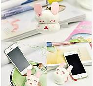 Birthday Gift Mobile Phone's Accessories Rabbit Shape Fiber Creative Towel (Random Color)