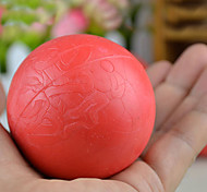 Middle Size Training Red Rope Rubber Bouncy Ball