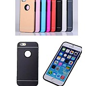 Combined Silica Gel Brushed Metal Cover for iPhone 6 (Assorted Colors)