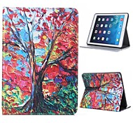 Oil Painting Maple Design PU Full Body Case with Stand for iPad Air 2