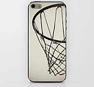 White Basketball Hoop Pattern hard Case for iPhone 6