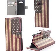 USA-Flaggen-Muster Leder mit Stand und Kartenslot für Samsung Galaxy Core 2 g355h