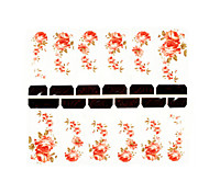 12PCS Flower Pattern Watermark Nail Art Stickers C1-019