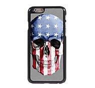 Skull with The Old Glory Design Aluminum Hard Case for iPhone 6