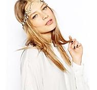 Fashion Flower Hair Crown Headband Head Crown White Crystal Hair Jewelry Head Chain