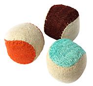 Transporte dentes limpos brinquedo bucha esponja 4,5 centímetros animais de estimação bola sortidas