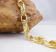 18K Golden Plated Chain Bracelet 21cm