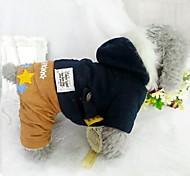Dog Hoodie / Clothes/Jumpsuit / Pants Red / Blue Dog Clothes Winter Stars