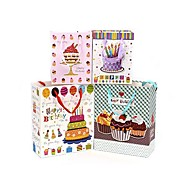 Lureme Fashion  Birthday Cake Pattern Gift Bag(Random Color)(1 Pc)