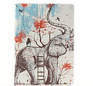 Elephant and Girls Pattern PU Leather Full Body Case with Stand for Samsung Tab4 10.1 T530