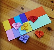 100 PCS Lucky Heart Pattern Origami Materials 5*10CM(8 Color/Package Random Color)