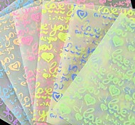 Fluorescent Effect I Lvoe You Pattern Papercranes Origami Materials(10 Pages/1 Color/Package Random Color)