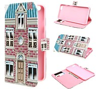 House Design Wallet PU Leather Case Cover with Stand and Card Slot for iPhone 6S Plus/6 Plus