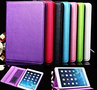 Exquisite Fashion Style Design PU Leather Full Body Case with Stand and Card Slot for iPad Air 2 (Assorted Colors)