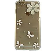 Flower Design Pattern Transparent PC Hard Case for iPhone 6