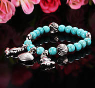 Fashion Shell Fish Green Resin Strand Bracelet(1 Pc)