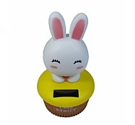 Cute Rabbit Shaking Head Solar Powered Toys