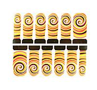 12pcs turbilhão de arte prego marca d'água padrão adesivos c4-002