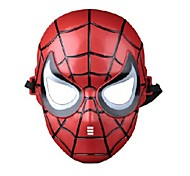 Children's Spider Man Plastic Material Fancy Dress Party Halloween Mask (Random Color)