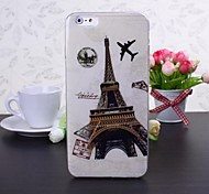 Eiffel Tower Pattern TPU Soft Case for iPhone 6 Plus