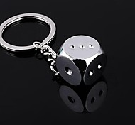 High Quality Zinc Alloy Dice Style Keychain