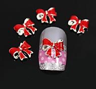 10pcs Red Fold Bowknot DIY Nail Art Decoration