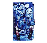 Wolf in Dream Catcher Pattern PU Leather Full Body Case with Card Slot and Stand for Motorola X+1