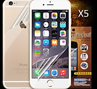 Front and Back HD Screen Protector for iPhone 6S Plus/6 Plus  (5PCS)