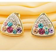 Love Is You Triangular Diamond Stud Earrings Fashion
