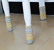 4 pcs de mesa material têxtil e capa protetora perna da cadeira (cor aleatória)
