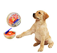 Dogs Toys Ball Food Dispenser Plastic Multicolor