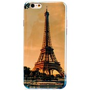 Eiffel Tower Pattern Blu-ray TPU Cover for iPhone 6
