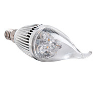 Luces LED en Vela Regulable E14 4W 4 LED de Alta Potencia 360 LM Blanco Cálido AC 100-240 V