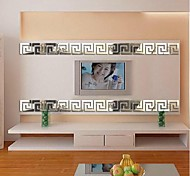 3d espejo acrílico adhesivo de pared bricolaje pegatinas de pared cuadrada 6 PC / sistema