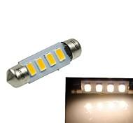 39mm (sv8.5-8) 2W 4x5730smd 120-1600lm 3000-3500K lumière blanche chaude Ampoule LED pour éclairage de la plaque d'immatriculation de voiture