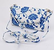 Blue and White Porcelain Wallet PU Leather Full Body Case for iPhone 4S/5S/5C/6(Assorted Colors)