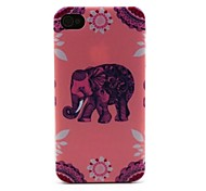 Pink Elephant Pattern Hard Case for iPhone 4/4S