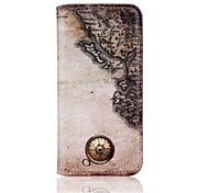 HHMM Nautical Maps Pattern PU Leather Flip Case for iPhone 6 Plus