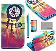 COCO FUN® Chinese knot Pattern PU Leather Full Body Case with Screen Protector, Stylus and Stand for LG Google Nexus 5
