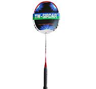 Sirdar rosso&carbonio bianco in fibra di racchetta da badminton