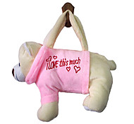Snow Bear Design Plush Toys Soft Hand Bag(Random Color)