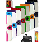 Mouse Grain PU Leather Full Body Case with Card Slot and Stand for Samsung Galaxy Note 3 (Assorted Colors)