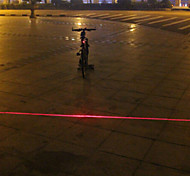UNGROL 1 Red Line Design 1 Laser Module 6 LED 6 Flash Mode Black Bike Warning Laser Light