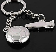 Personalized Alloy Soccer and Shoes Pattern Keychain